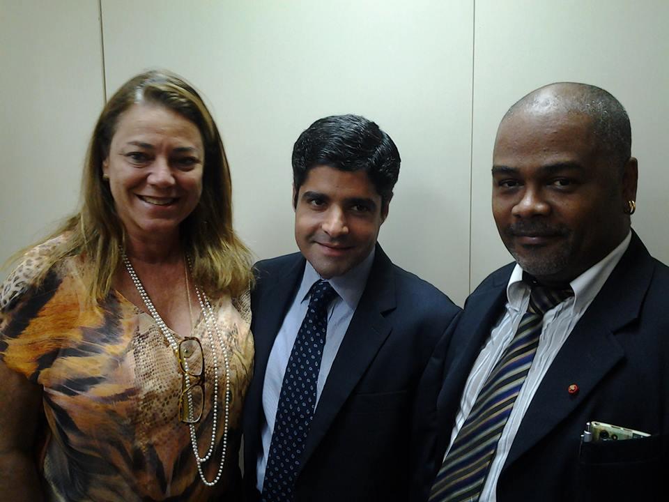 Vereadora Fabíola Mansur, o prefeito ACM Neto e o presidente do GGB Marcelo Cerqueira: compromisso